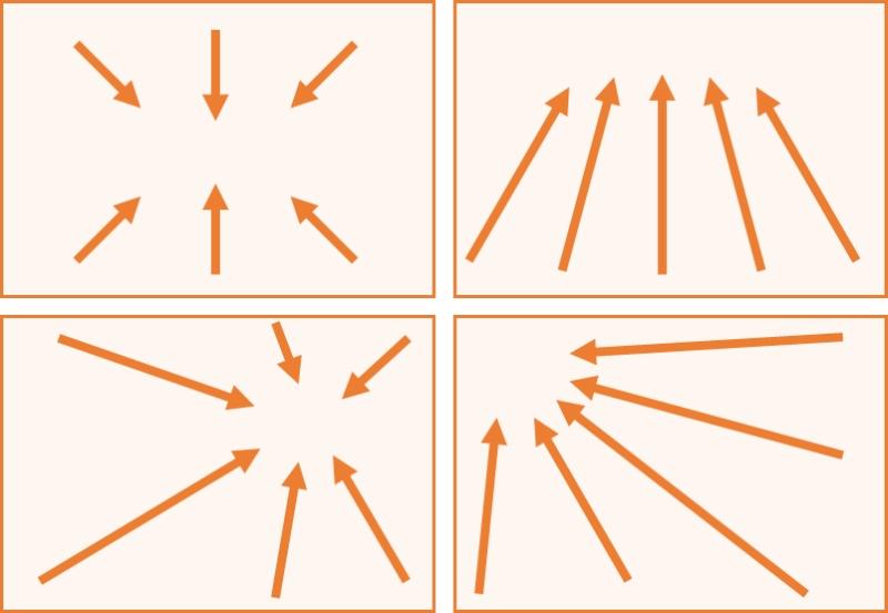 広角レンズの特徴であるパースの解説図