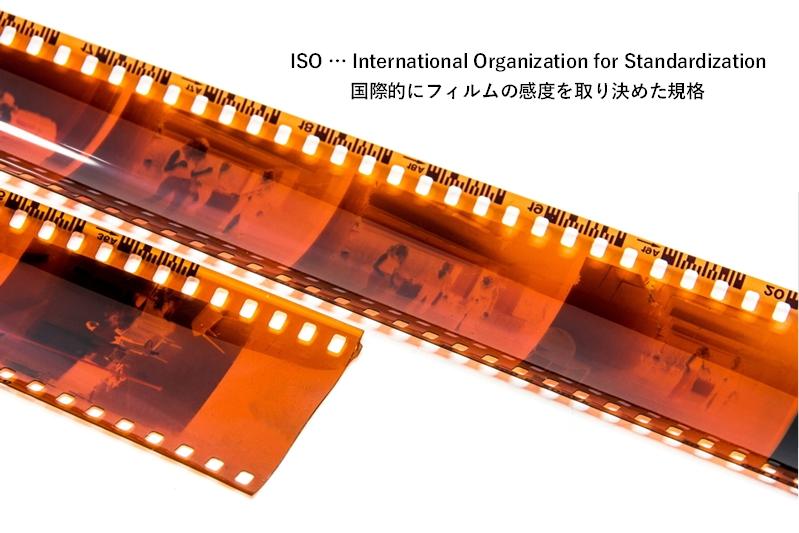 ISO感度をイメージさせるフィルム画像