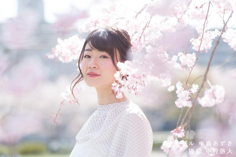 桜ポートレート作例 バストアップ