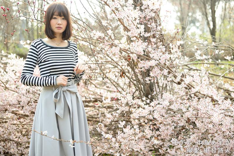 桜ポートレート作例 桜が低い位置にある