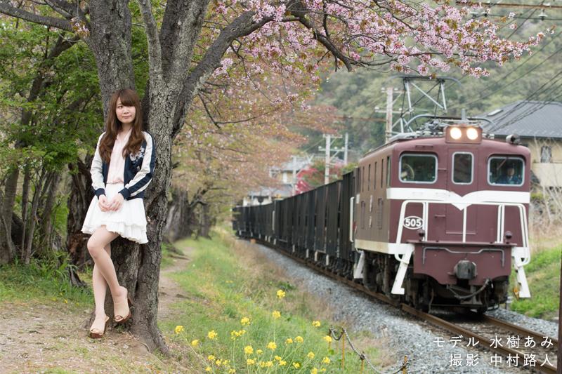 桜ポートレート作例 プラスアルファを絡めて撮る