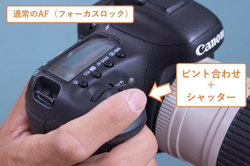 通常AFの指とボタンの関係