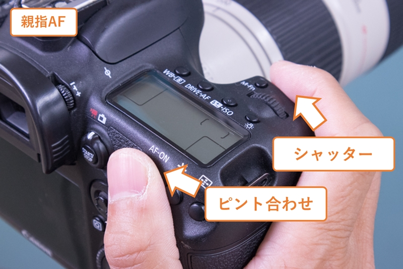 親指AFの指とボタンの関係