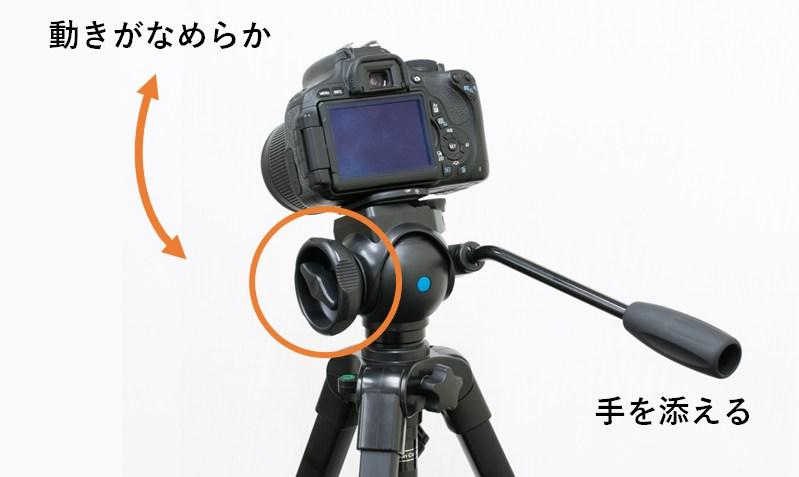 ビデオ雲台の写真
