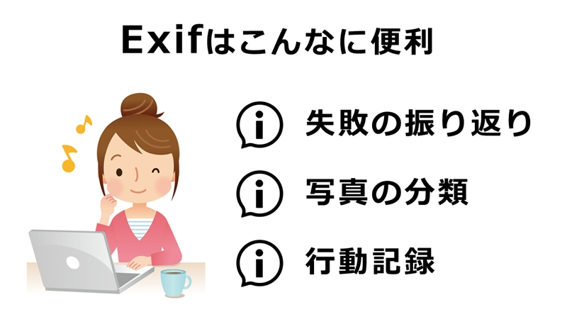 EXIFのメリット
