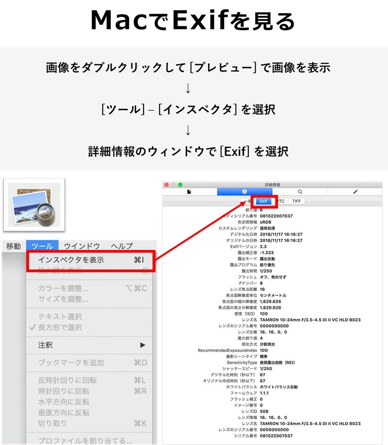 MacでExifを見る方法