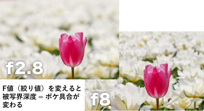 f値(絞り値)でボケが変わる作例