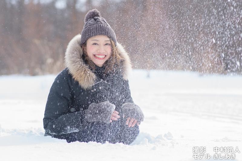 雪の日中シンクロ