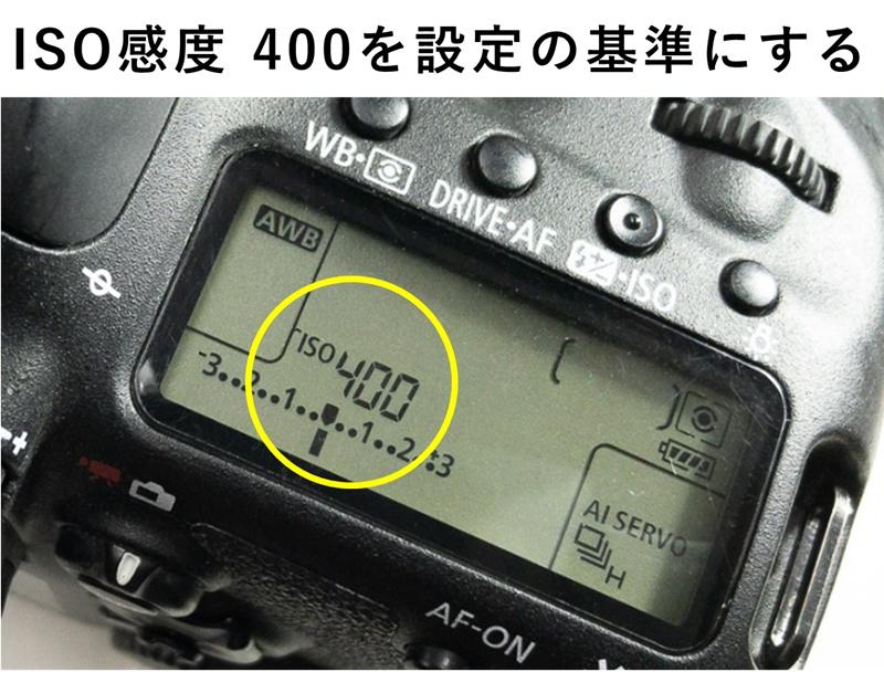 クリップオンストロボ使用時はISO感度400を基本に考える