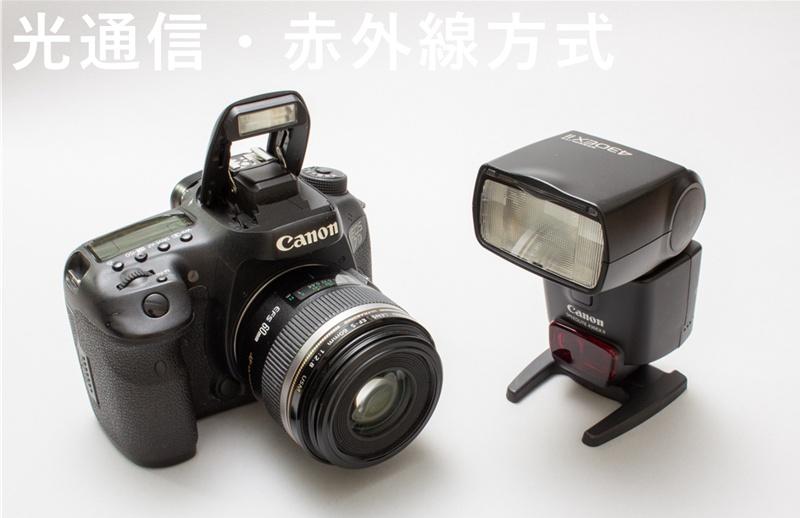 光通信・赤外線方式でオフカメラストロボ