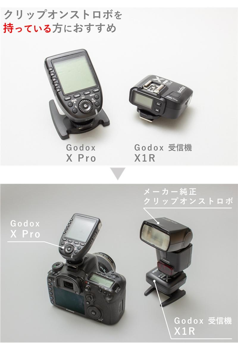 Godox Xpro と Godox X1Rの組み合わせ
