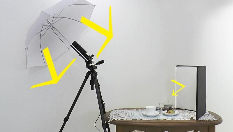 ストロボ用の傘を使ってバウンス撮影